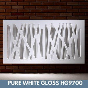 Stunning Removable Radiator Heater Cover with Futuristic GEO Design in HIGH GLOSS Finish & Colours-Distinct Designs (London) Ltd