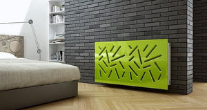 Modern Removable Radiator Cover with subtle STICKS Design HIGH GLOSS Finish & Colours-Distinct Designs (London) Ltd