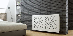 Modern Removable Radiator Cover Subtle STICKS WHITE 70 80 90 100 110 120 130 140 150 160 170 & 180cm-Distinct Designs (London) Ltd