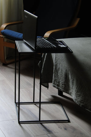 Bespoke Metal Side Sofa End Work Coffee Table 55x40x40cm (LxHxD) in Black-Square-Distinct Designs (London) Ltd