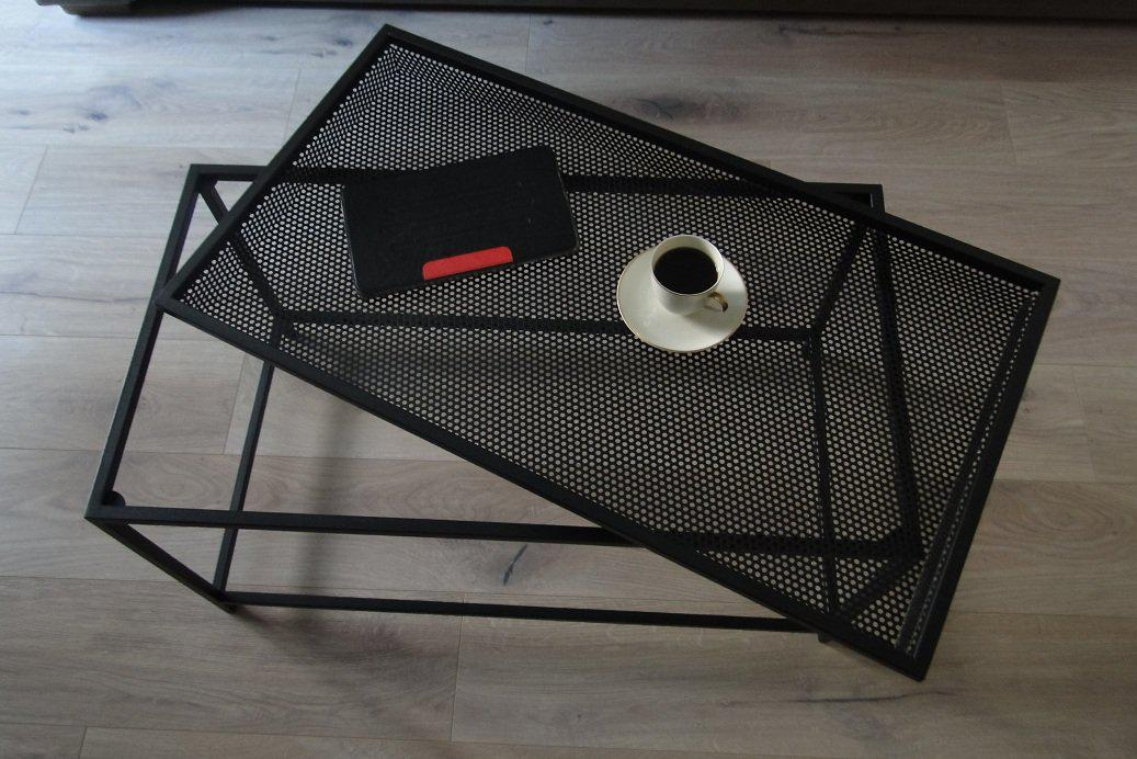 Bespoke Metal Coffee Table 82x41x47cm (LxHxD) in Black-Rectangular-Distinct Designs (London) Ltd
