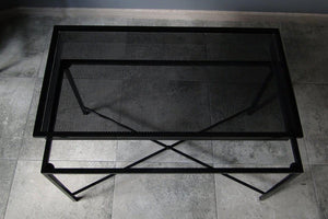 Bespoke Metal Coffee Table 82x41x47cm (LxHxD) in Black-Distinct Designs (London) Ltd
