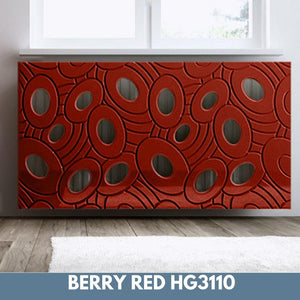 Sophisticated Removable Radiator Heater Cover with bold GALAXY Design HIGH GLOSS Finish & Colours-Berry Red Gloss-70x90cm-Distinct Designs (London) Ltd