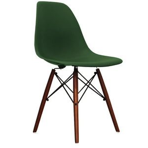 Classic Mid-Century Design Dining Office Emerald Green Chair with braced Wooden Legs-Distinct Designs (London) Ltd
