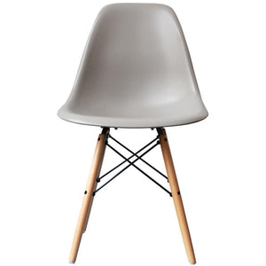 Cassic Mid-Century Design Dining Office Light Grey Chair with braced Wooden Legs-Natural Beach-Distinct Designs (London) Ltd