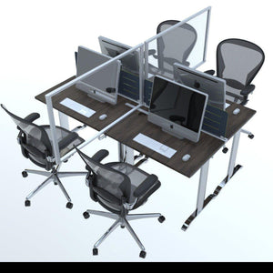Desktop Clear Infection Barrier Screen See-through Tabletop Protection Divider Panel-Distinct Designs (London) Ltd