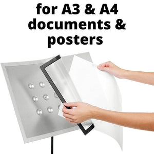 Wall Fixed Display Frame with easy-access A4 Magnetic info sign Holder PPE social distancing Posters-A4-Distinct Designs (London) Ltd