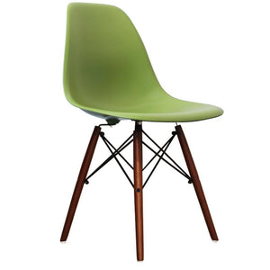 Classic Mid-Century Design Dining Office Forest Green Chair with braced Wooden Legs-Distinct Designs (London) Ltd