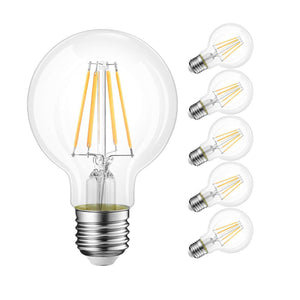 Vintage GLOBE LED Bulb for Display Table Desk Pendant Light Fixtures Pk 6-Globe-Non-Dimmable-Distinct Designs (London) Ltd