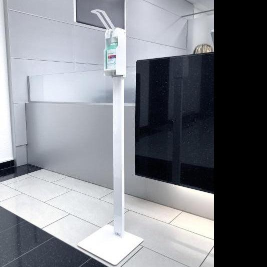 Infection Control Hand Sanitiser Dispenser Floor Standing Unit Hands Free Dispensing Station-Floor Standing-Distinct Designs (London) Ltd