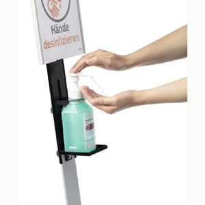 Infection Control Hand Sanitiser Disinfectant Dispenser Floor Standing Unit with A4 Information Holder-Floor Standing-Distinct Designs (London) Ltd