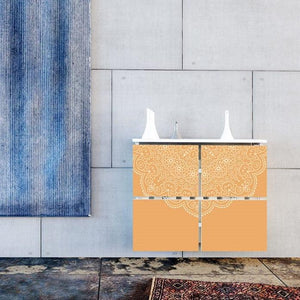 Modern Floating Radiator Heater Cover LACE PATTERN Cabinet Design from 40-115cm high & 40-180cm long-75cm-40cm-Distinct Designs (London) Ltd