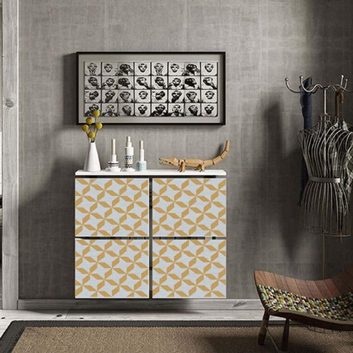 Modern Floating Radiator Heater Cover STARS PATTERN Cabinet Design from 40-115 high & 40-180cm long-75cm-40cm-Distinct Designs (London) Ltd