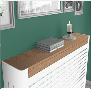 Modern Floating Radiator Heater Cover NORDIC STRIPE Metal Box design with wooden drawers Ref RCNR230-75cm-40cm-Distinct Designs (London) Ltd