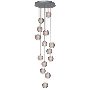 Modern Crystal Glass Bubble Globe 10cm Pendant G4 LED Ceiling Light 1, 3, 5, 7, 14, 26,36 Lamp Heads-14 Lamp Heads-Distinct Designs (London) Ltd