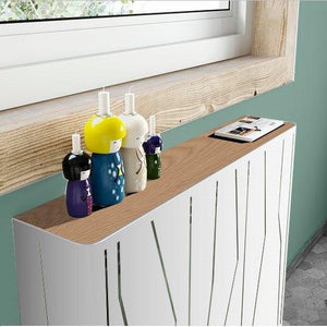 Modern Floating Radiator Heater Cover NORDIC CANES Metal Cabinet design flush wood top Ref RCNR232-75cm-40cm-Distinct Designs (London) Ltd