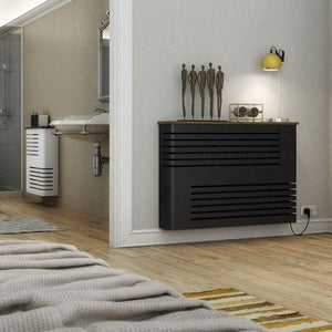 Modern Floating Radiator Heater Cover NORDIC CORNER LINE Metal Cabinet design flush top Ref RCNR231-Distinct Designs (London) Ltd