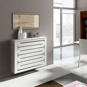 Modern Floating Radiator Heater Cover GEOMETRIC CONTOURS Cabinet Box Design with Shelf Ref RCGE245-75cm-40cm-Distinct Designs (London) Ltd
