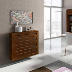 Modern Floating Radiator Heater Cover GEOMETRIC CONTOURS Cabinet Box Design with Shelf Ref RCGE245-Distinct Designs (London) Ltd