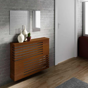Modern Floating Radiator Heater Cover GEOMETRIC CORNER LINE Cabinet Design with Shelf Ref RCGE241-Distinct Designs (London) Ltd