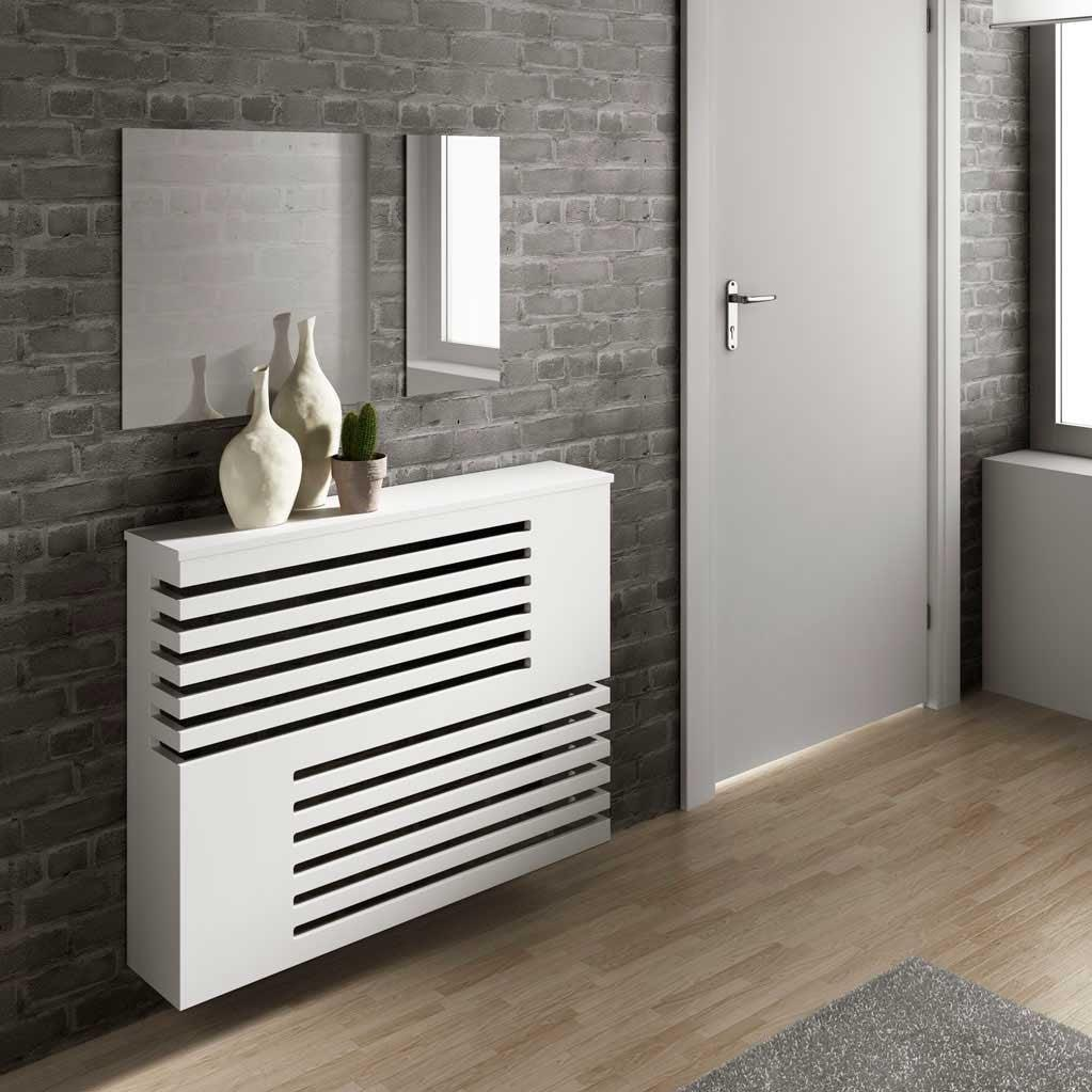 Modern Floating Radiator Heater Cover GEOMETRIC CORNER LINE Cabinet Design with Shelf Ref RCGE241-75cm-60cm-Distinct Designs (London) Ltd