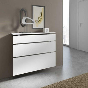 Modern Floating Radiator Heater Cover MINIMAL LINES Cabinet Design 40-180cm Long Ref RCMN251-Distinct Designs (London) Ltd