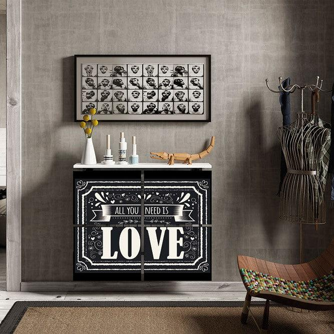 Modern Floating Radiator Heater Cover VINTAGE All You Need Cabinet Design 40-115 high 40-180cm long-75cm-40cm-Distinct Designs (London) Ltd