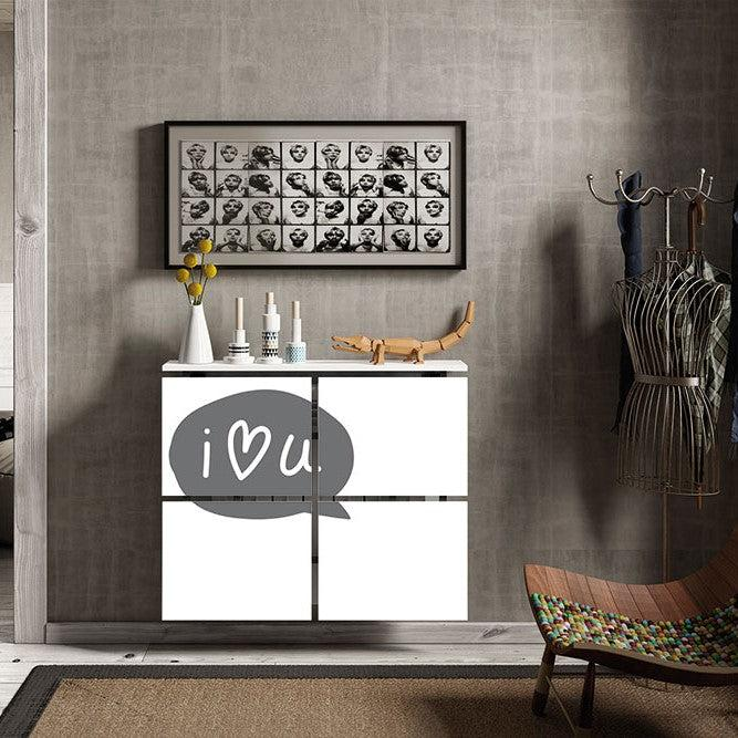 Modern Floating Radiator Heater Cover QUOTES I love you Cabinet Design 40-115cm high & 40-180cm long-75cm-40cm-Distinct Designs (London) Ltd