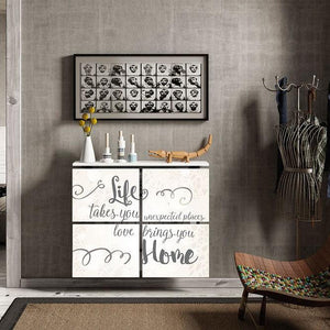 Modern Floating Radiator Heater Cover QUOTES 'Love brings home' Cabinet Design 40-115 40-180cm long-75cm-40cm-Distinct Designs (London) Ltd
