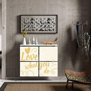 Modern Floating Radiator Heater Cover QUOTES 'Love what you do' Cabinet Design 40-115 x 40-180 long-75cm-40cm-Distinct Designs (London) Ltd