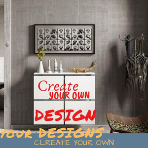 Modern Floating Radiator Heater Cover QUOTES 'Be Happy' Cabinet Design 40-115cm high & 40-180cm long-Distinct Designs (London) Ltd