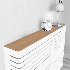 Modern Floating Radiator Heater Cover NORDIC CORNER LINE Metal Cabinet design flush top Ref RCNR231-75cm-40cm-Distinct Designs (London) Ltd