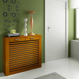 Floor Standing Modern Radiator Heater Cabinet CLASSIC LINES Cover Design with Top Drawer Ref RCCL201-Distinct Designs (London) Ltd