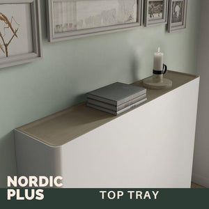 Modern Floating Radiator Heater Cover NORDIC CANES Metal Cabinet design flush wood top Ref RCNR232-Distinct Designs (London) Ltd