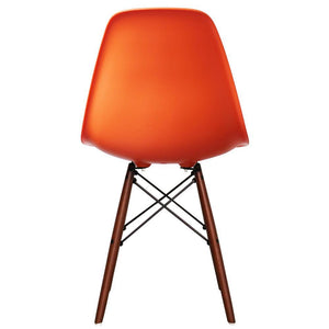 Classic Mid-Century Design Dining Office Orange Chair with braced Wooden Legs-Distinct Designs (London) Ltd