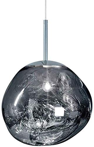 Postmodern Crystal Glass Chandelier Pendant LED Light in Irregular Melt Design-40cm-Silver-Distinct Designs (London) Ltd