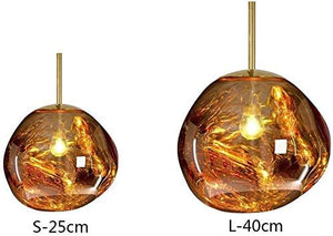 Postmodern Crystal Glass Chandelier Pendant LED Light in Irregular Melt Design-Distinct Designs (London) Ltd