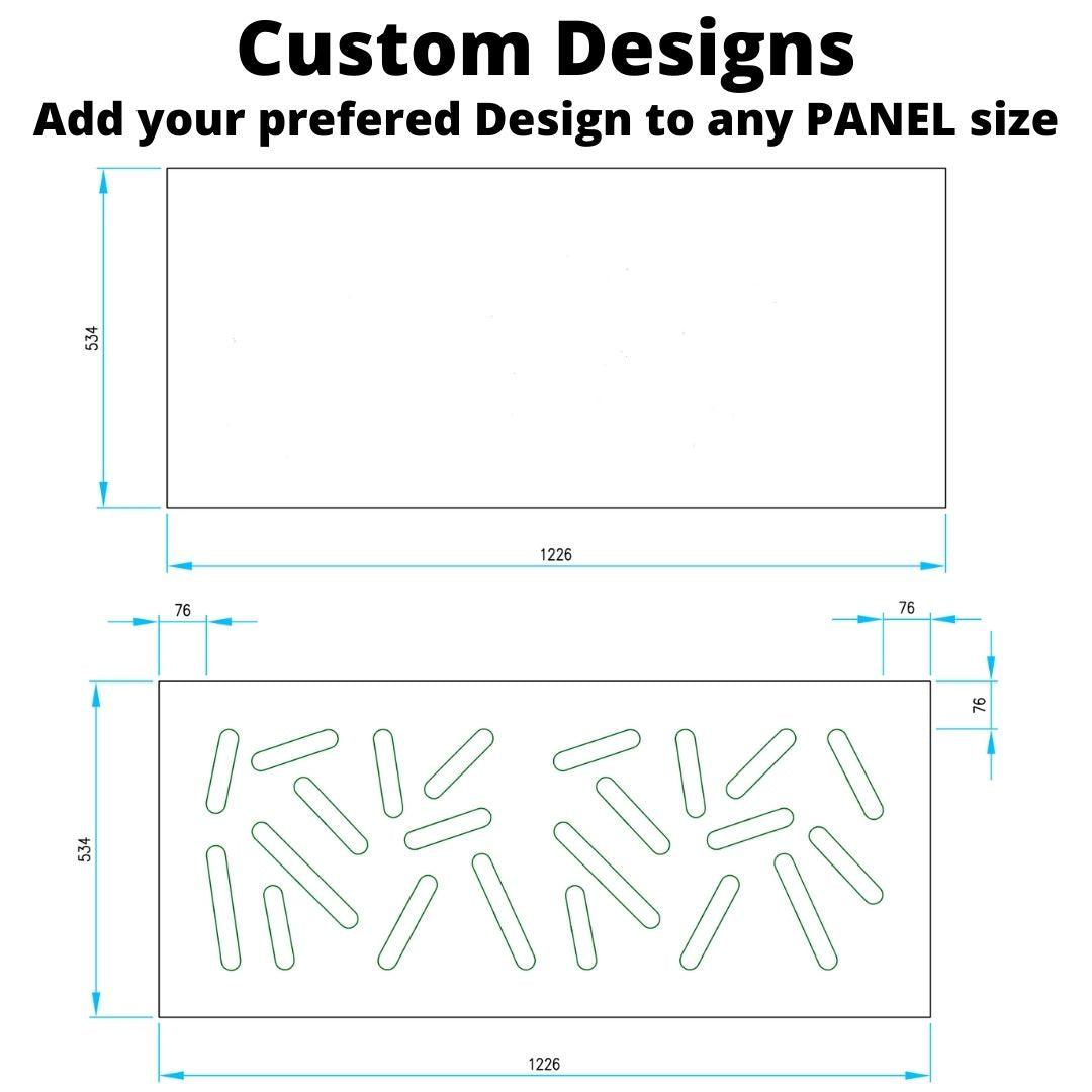 ADD ON LINE: Custom Design for your Modern Removable Panel Radiator Heater Cover-CUSTOM DESIGN-Distinct Designs (London) Ltd