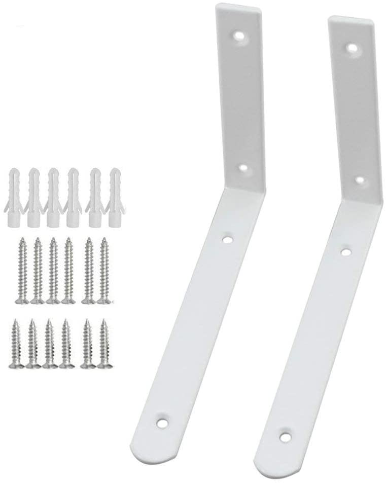 Radiator Top Shelf Wall Hanging L Shaped Brackets with screws fixings Pk 2-2 x Shelf Brackets-Distinct Designs (London) Ltd