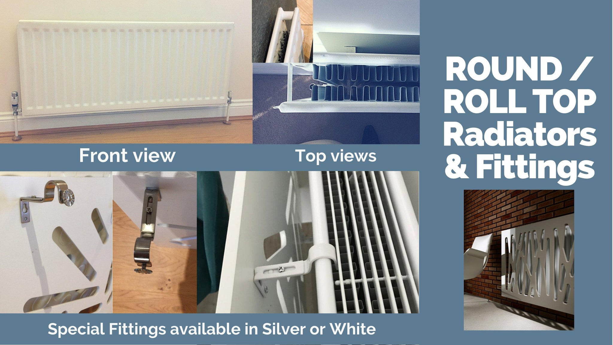 Radiator Cover Fittings For Column Roll Round Top Heaters Towel Rails Distinct Designs London Ltd