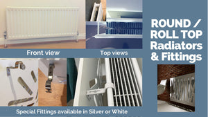 Alternative Radiator Covers Fittings for Column, Roll Round Top Radiators, Bathroom Towel Rails etc.-Roll / Round Top-Distinct Designs (London) Ltd