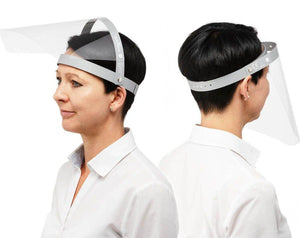 Reusable PPE Personal Face Visor Infection Control Clear Hinged LiftUp Shield with Headband PK 25-25-Distinct Designs (London) Ltd