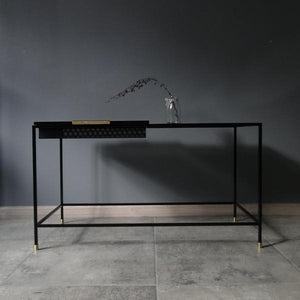 Bespoke Metal Coffee Table Narrow 84x45x42cm (LxHxD) in Black-Rectangular-Distinct Designs (London) Ltd