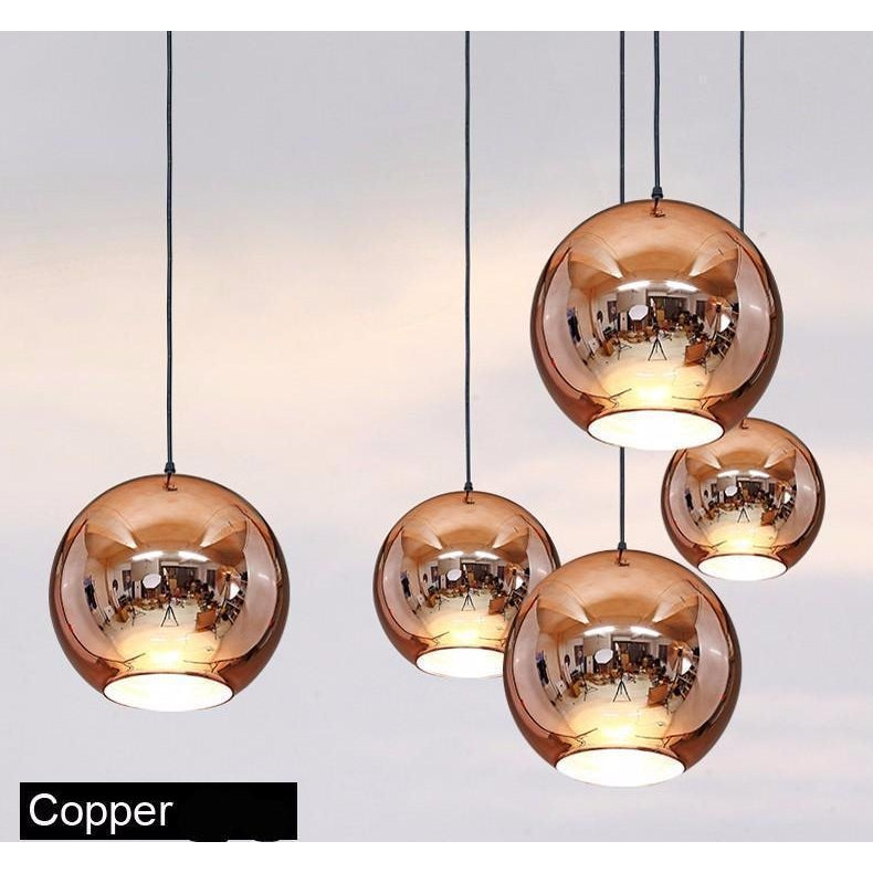 Golden copper or sliver mirror chandelier style pendant ceiling light golden copper or sliver mirror chandelier style pendant ceiling lights glass ball lamp mozeypictures Choice Image