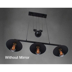 Loft Vintage Pendant Pulley Lights made of Black Painted Iron in Modern Industrial Style-3 Light Classic-Distinct Designs (London) Ltd