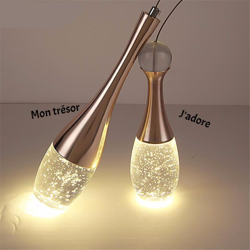 Modern Crystal Glass Bubble Pendant LED Light Hanglamp in Fashionable Minimalist Styling-Distinct Designs (London) Ltd
