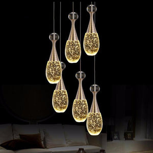 Modern Crystal Glass Bubble Pendant LED Light Hanglamp in Fashionable Minimalist J'adore Styling-J'adore 6 lights round-Distinct Designs (London) Ltd