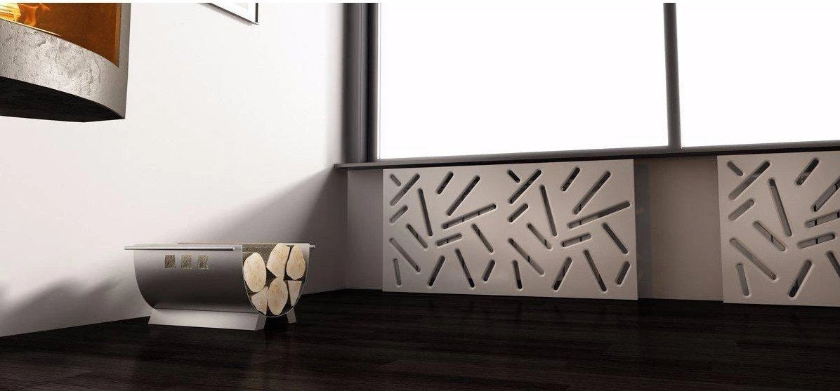 SALE Custom-Made Removable Radiator Cover with Modern STICKS Design-Distinct Designs (London) Ltd