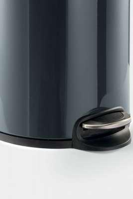 Round Pedal Waste Rubbish Bin with Smooth Silent Close Lid 5L,12L or 20L in Powder Coated Metal-Distinct Designs (London) Ltd