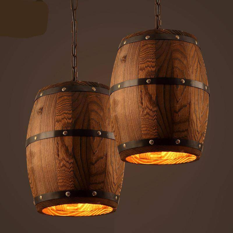 Wine Barrel Hanging Fixture Ceiling Pendant for Traditional Style Country Interior-Distinct Designs (London) Ltd